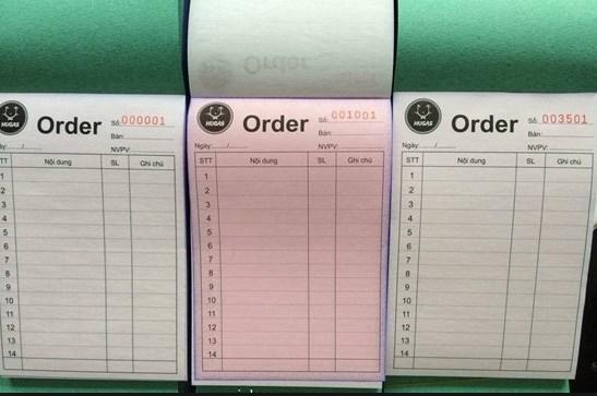 cuốn order quán ăn
